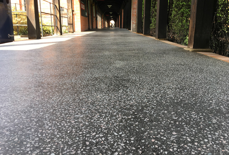 Reading University mastic asphalt paving