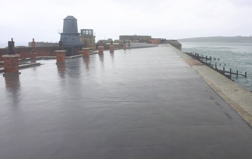 Hurst Castle Mastic Asphalt Application