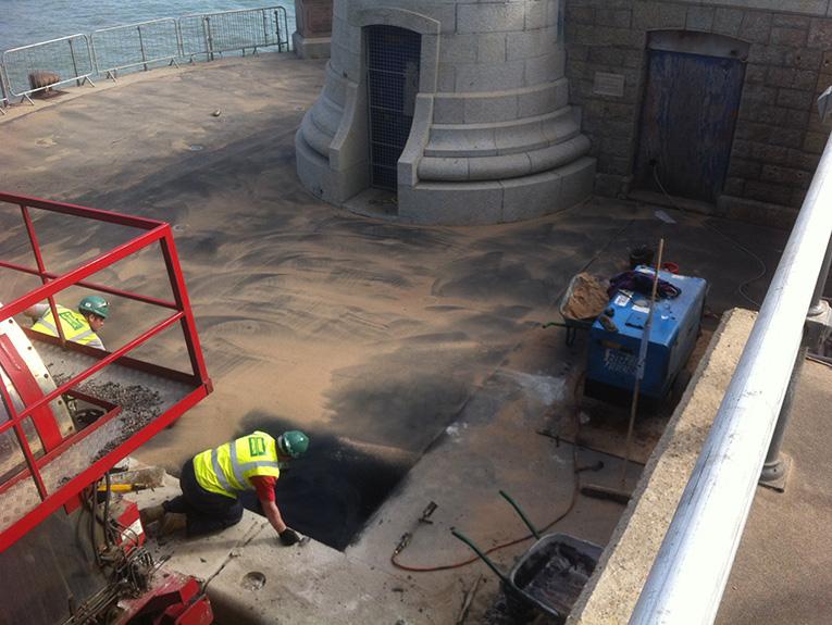 Folkestone Harbour asphalt application
