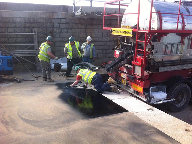 Folkestone Harbour mastic asphalt application
