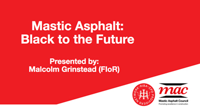 Mastic asphalt council cod presentation