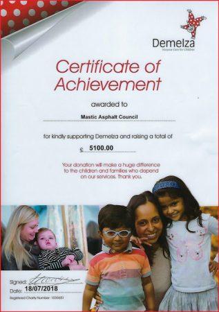 Demelza charity donation from MAC