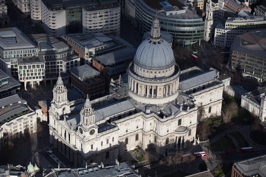 Mastic asphalt St. Paul's Cathedral