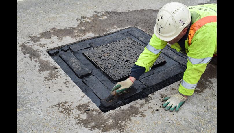 Mastic asphalt highways applications