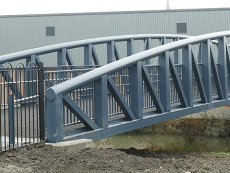 Charter Street Footbridge mastic asphalt application