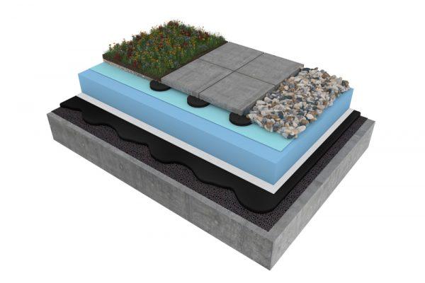 Mastic asphalt inverted roof