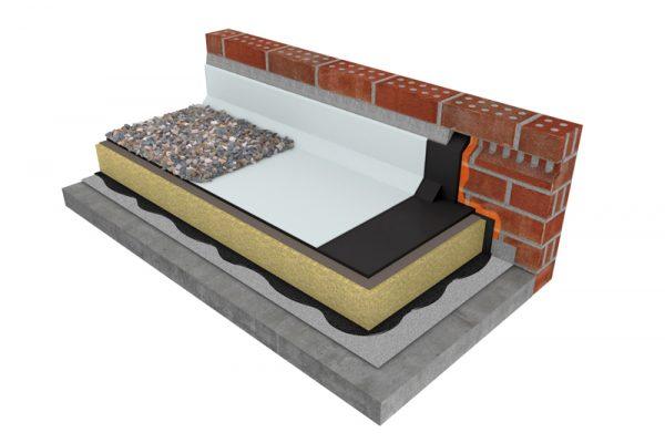 Mastic asphalt warm roof