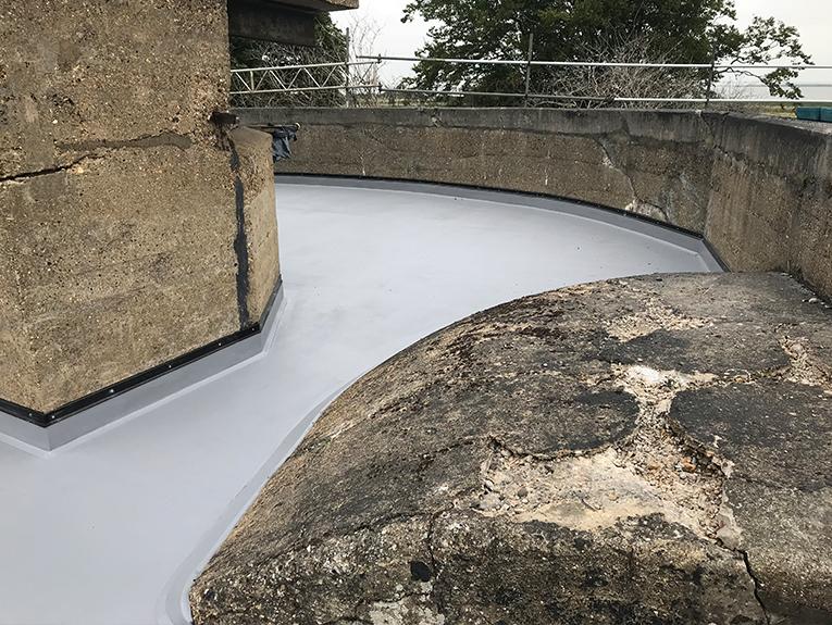 mastic asphalt roofing coalhouse fort