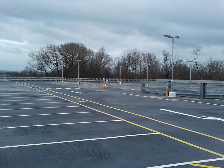 Jaguar Land Rover mastic asphalt car park