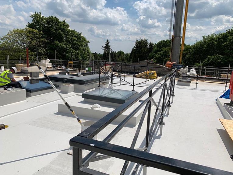 Romany House mastic asphalt application