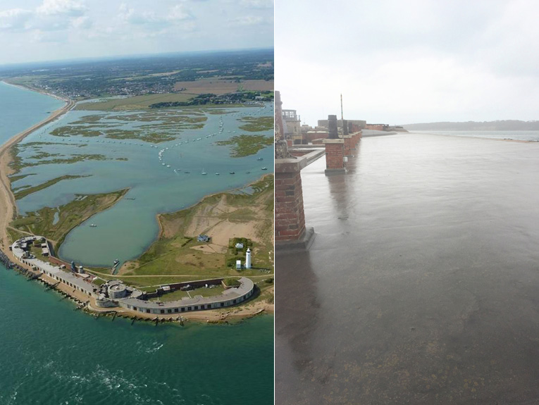 Hurst Castle Infallible Systems mastic asphalt refurbishment